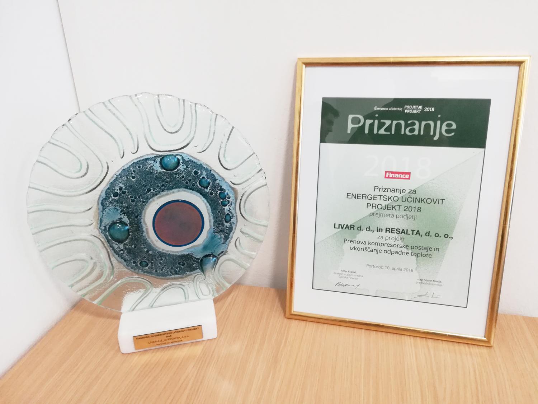 Energetsko učinkovit projekt - Priznanje